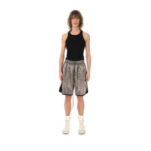 asparagus_ | Inside Out Foil Shorts Silver