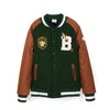 BBC Club Varsity Jacket Forest Green/Tan