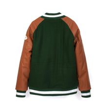 將圖像加載到畫廊查看器中Billionaire Boys Club | Club Varsity Jacket Forest Green/Tan