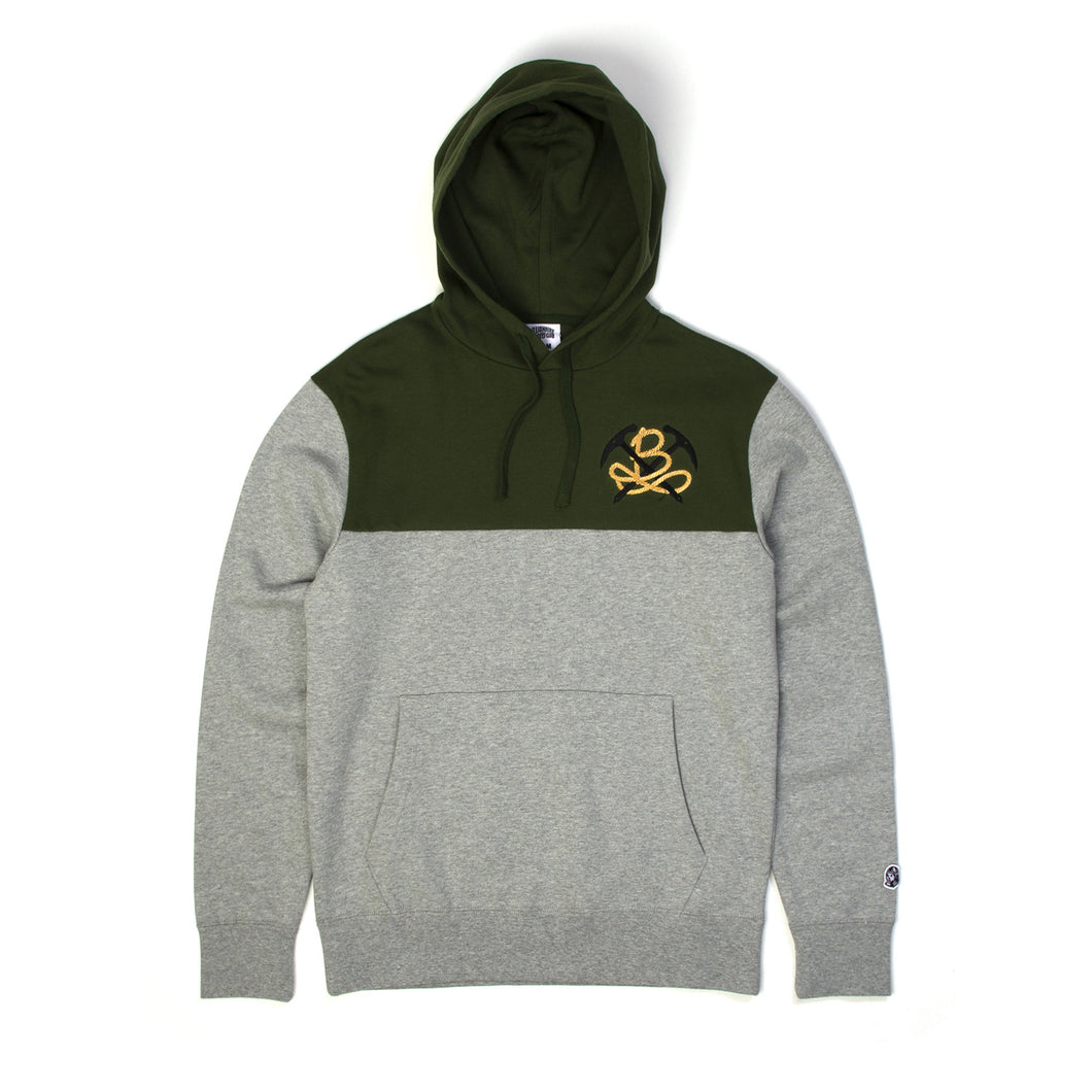 Billionaire Boys Club | Utility Popover Hoody Heather Grey/Olive - Concrete