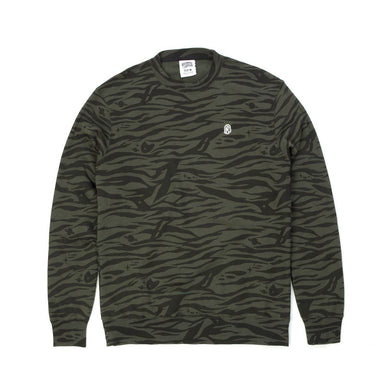 BBC Zebra Camo All-Over Print Crewneck Charcoal