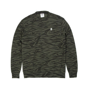 Billionaire Boys Club | Zebra Camo All-Over Print Crewneck Charcoal