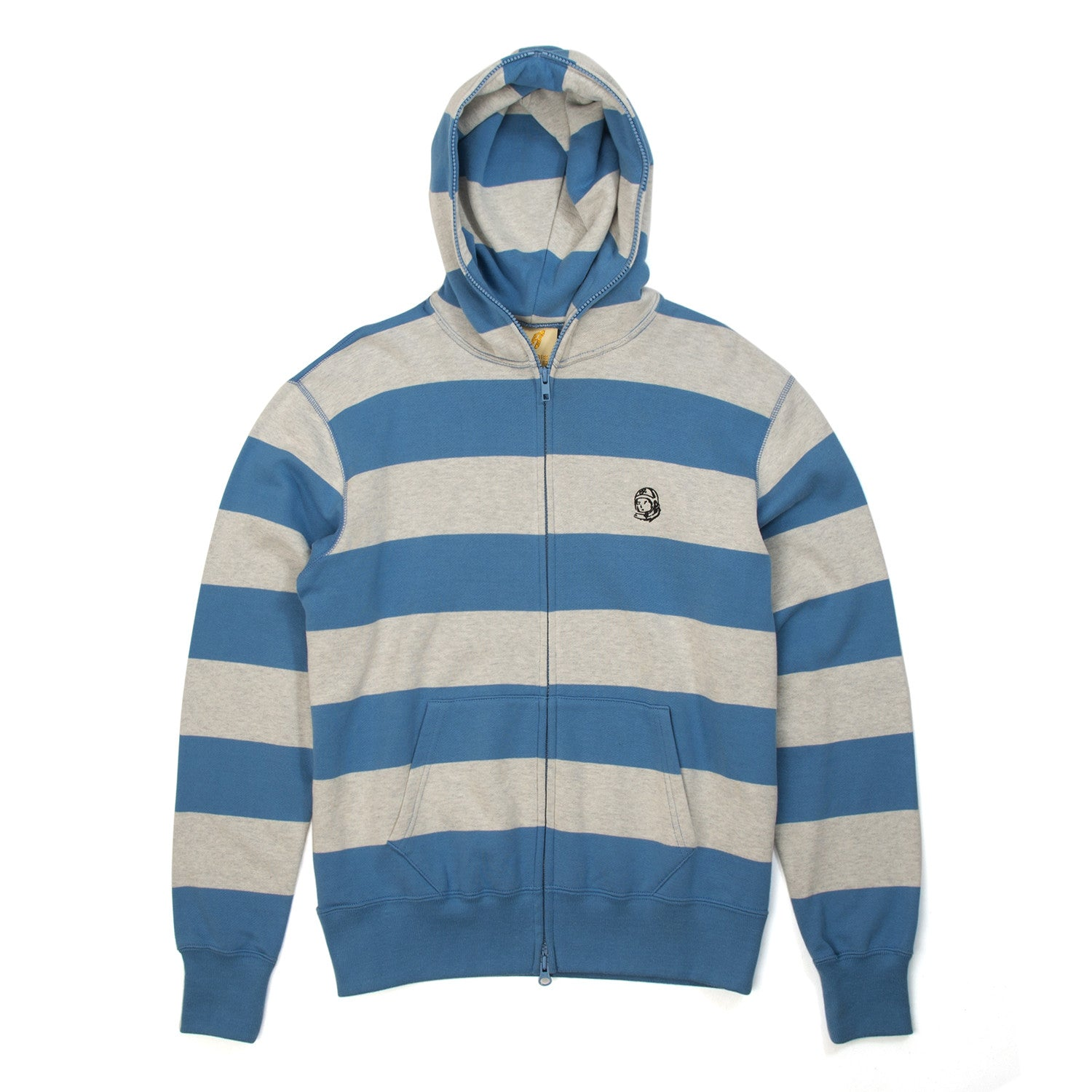 BBC Striped Lightweight Sweat FZ Hoodie Grey - Concrete