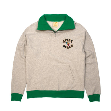 BBC Space Beach Double Layer Hi Neck Sweat Shirt Green/Grey - Concrete