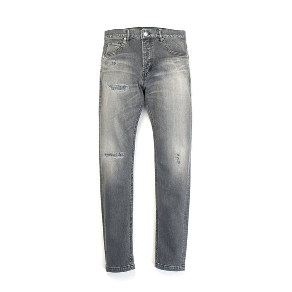 Bedwin & The Heartbreakers | 'Geoffrey' Skinny Fit Stretch Denim FD Black - Concrete