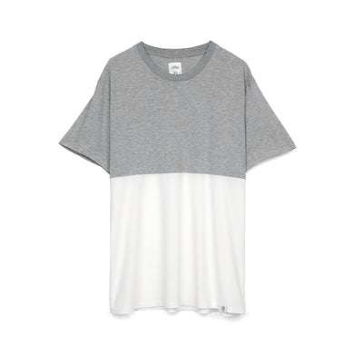 Bedwin & The Heartbreakers | 'BOWEN' Bicolor S/S T-Shirt Grey - Concrete