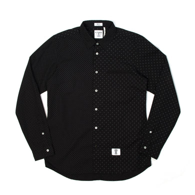 Bedwin & The Heartbreakers | 'Tailor' L/S OG Dot Borad Shirt Black - Concrete