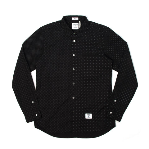 Bedwin 'Tailor' L/S OG Dot Borad Shirt Black - Concrete