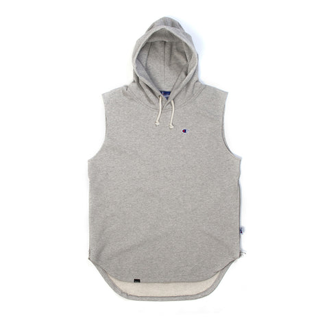 Champion x Beams Hooded Sweatshirt Grey - Concrete