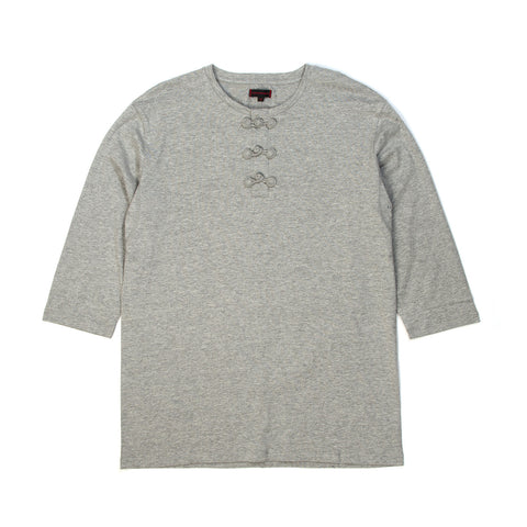 CLOT Chinese Henley 3/4 Tee Heather Grey