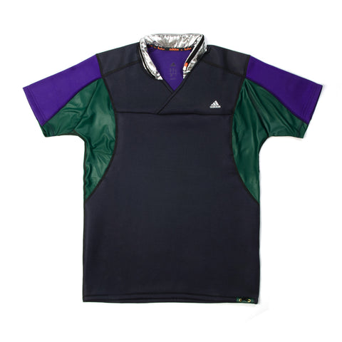 adidas by kolor SS Knit Top Dark Grey/Collegiate Purple/Dark Green/Silver - Concrete