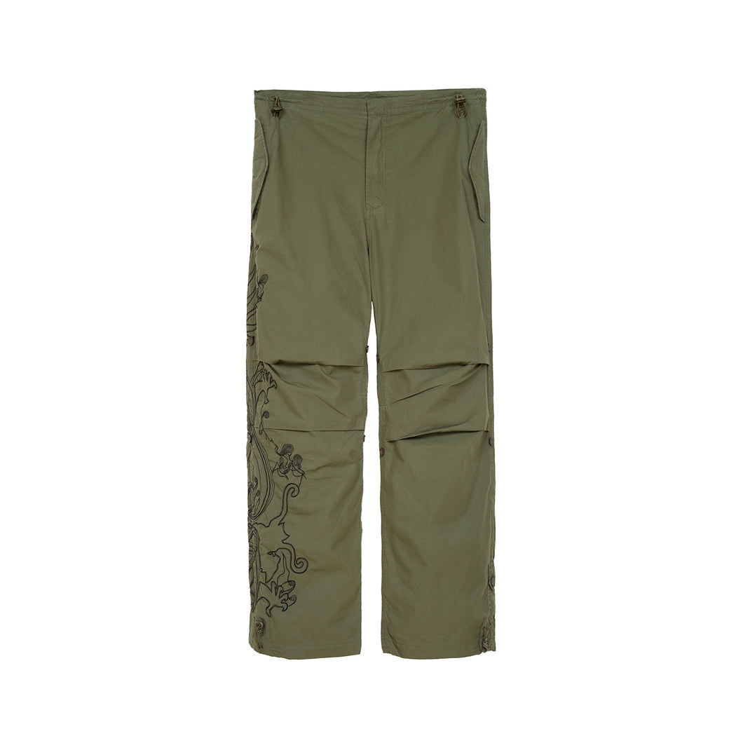 Maharishi Original Snopants Purple Haze Embroidery Summer Olive - Concrete