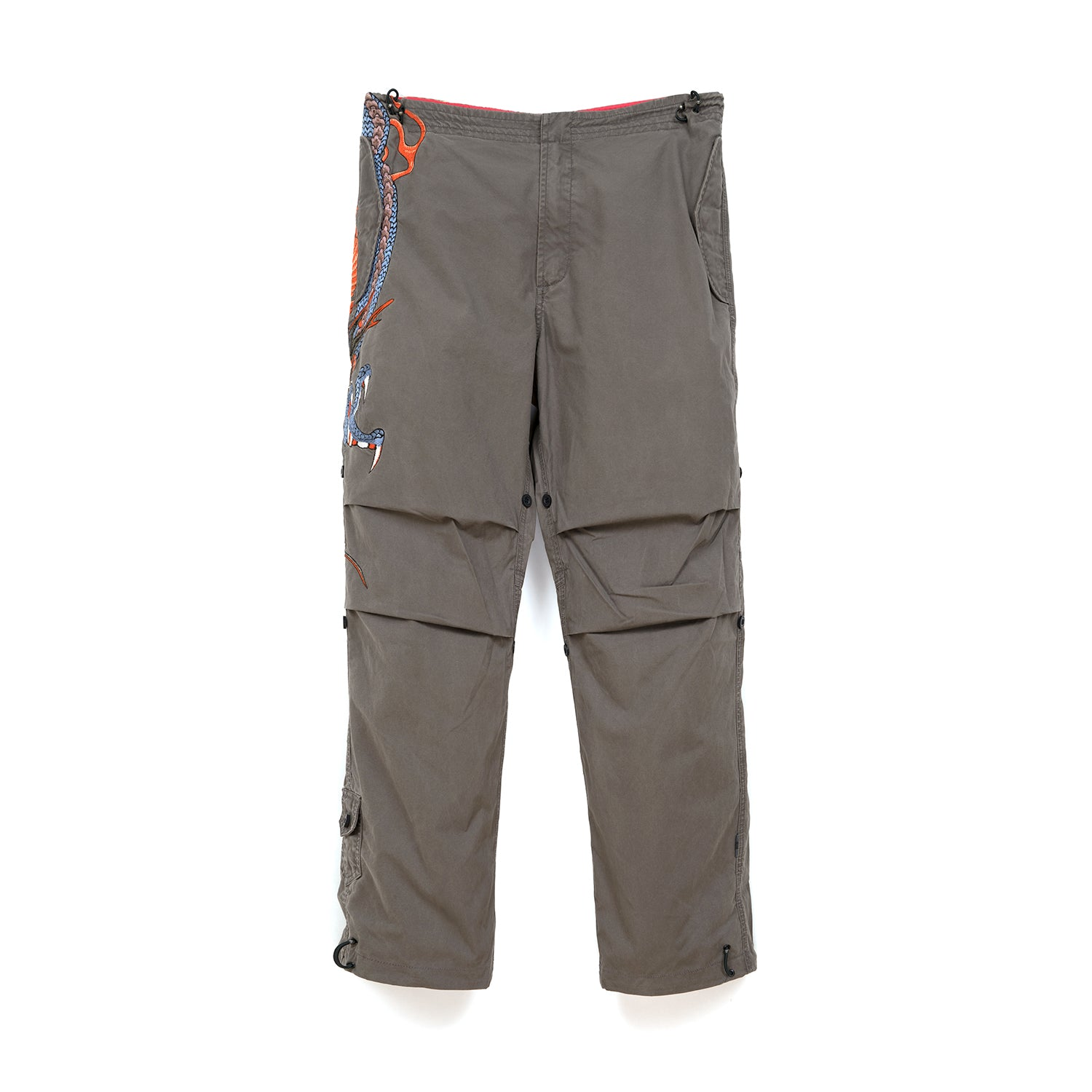 Maharishi Temple Ball Snopants Claw Dragon Embroidery Charcoal