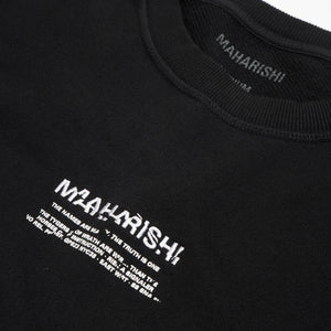 maharishi | Heaven And Hell Crew Sweat Black - Concrete