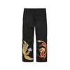 Maharishi Original Snopants Loose Fit Flip The Phoenix Rock The Dragon Embroidery Black