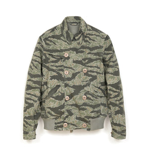 maharishi | Tiger Short Rib Jacket Grey Tigerstripe - Concrete