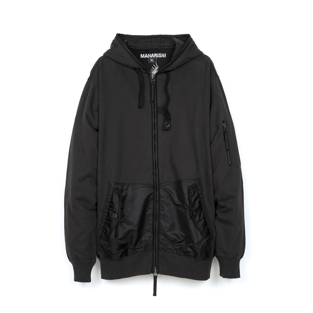 maharishi | Miltype Flight Hooded Sweat - Concrete