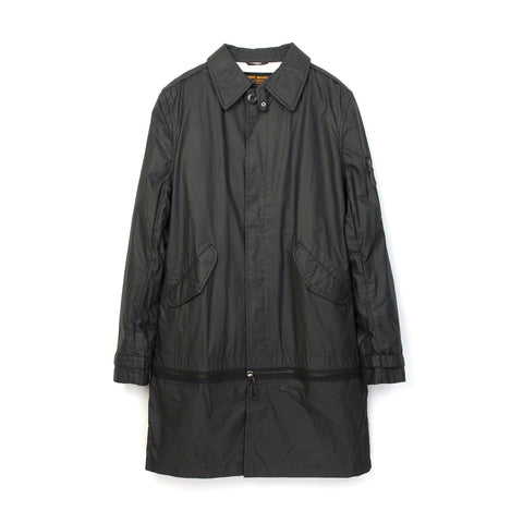 maharishi Zip Off Mil Rain Coat Black