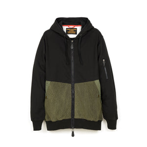 maharishi | Cargo Net Hooded Sweat Black/Maha Olive - Concrete