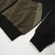 Load image into Gallery viewer, Maharishi Cargo Net Hooded Sweat Black/Maha Olive