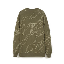 Load image into Gallery viewer, maharishi | Raglan Vent Crew Maha Olive - Concrete