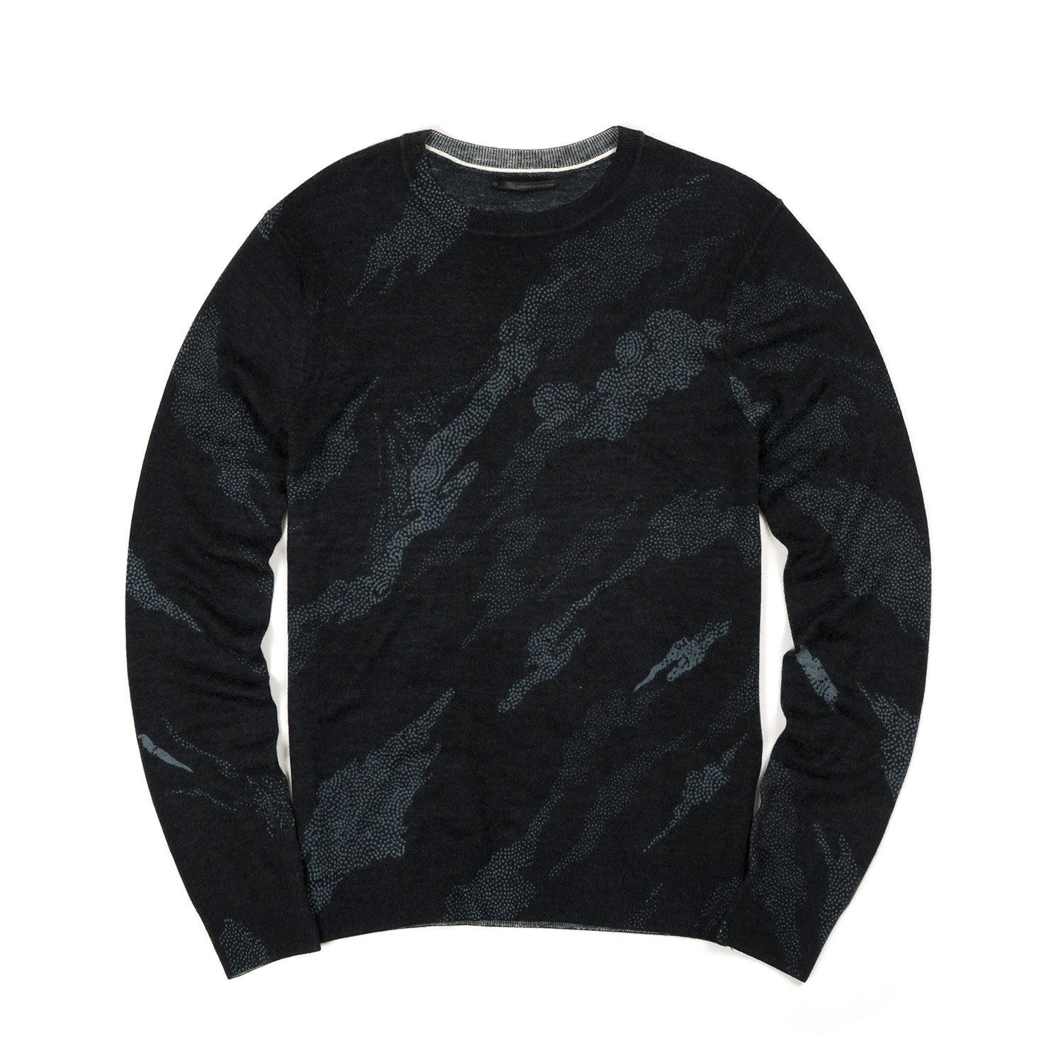 maharishi Pointillist Bonsai Knit Crew Black