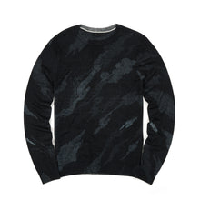 Load image into Gallery viewer, maharishi Pointillist Bonsai Knit Crew Black
