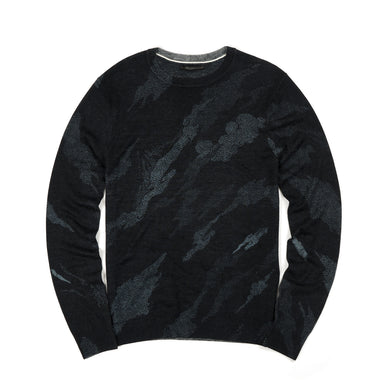 maharishi | Pointillist Bonsai Knit Crew Black - Concrete