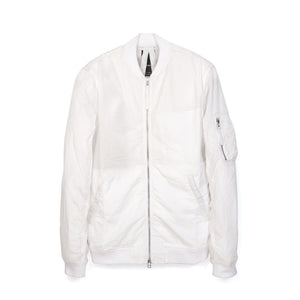 maharishi | Crushed Flight Jacket White - Concrete