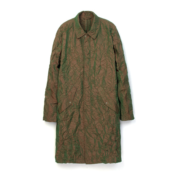 maharishi | Crushed Mac Coat Olive - Concrete