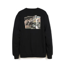 Load image into Gallery viewer, maharishi | Heaven And Hell Crew Sweat Black - Concrete