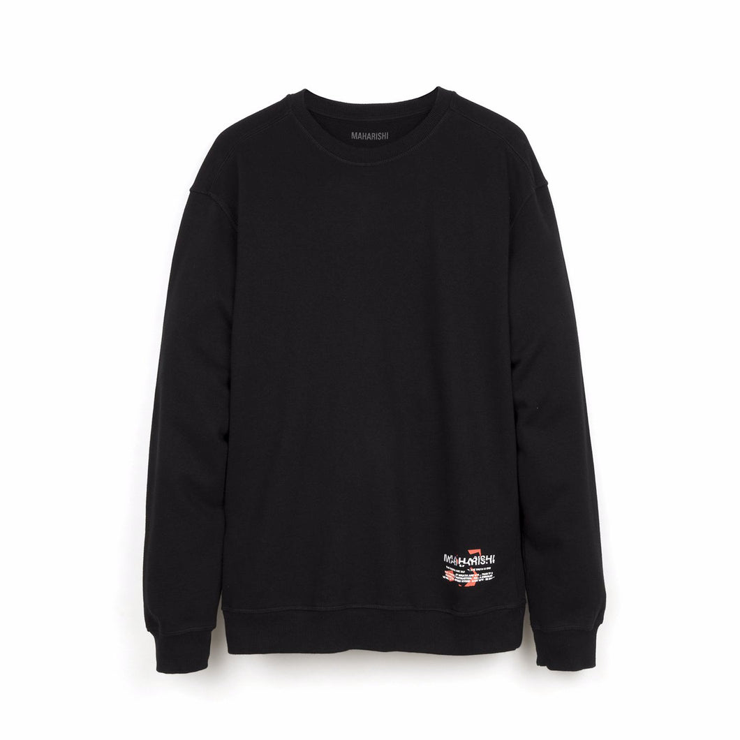 maharishi | Militype Crew Sweat Black - Concrete