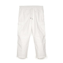 Load image into Gallery viewer, maharishi | Loose Cropped Cargo Track Pants White