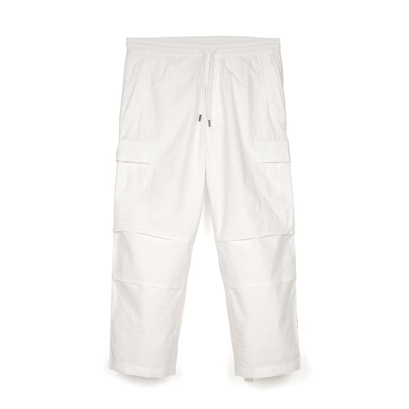 maharishi | Loose Cropped Cargo Track Pants White