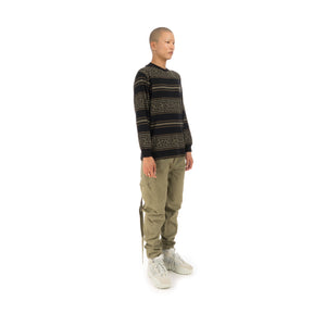 maharishi Striped L/S T-Shirt Woodland