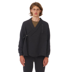 maharishi | Air Knit Polartec Reversible Kimono Black - Concrete