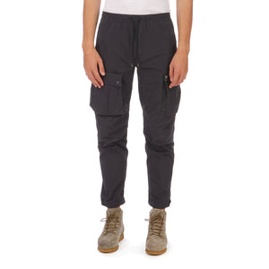 maharishi | Vegetable Dyed Cargo Trackpants Black - Concrete