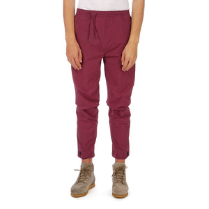 maharishi | Vegetable Dyed Asymmetric Trackpants Wine Red - Concrete