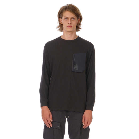 maharishi | Tech Pocket L/S T-Shirt Black - Concrete