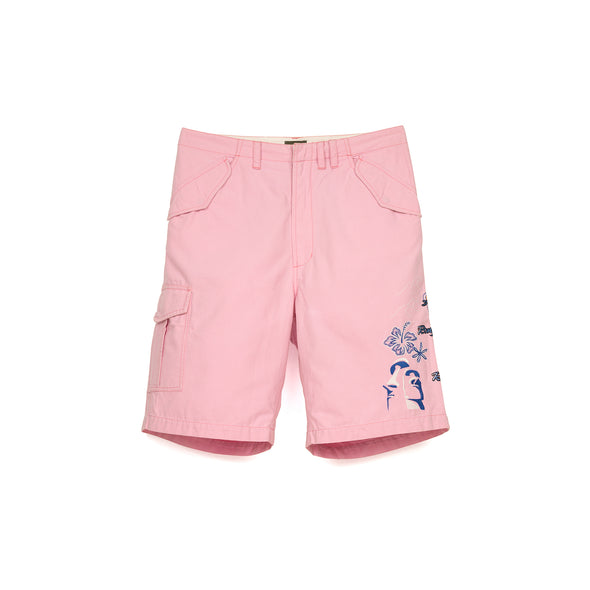 maharishi Miltype Cargo Snoshorts Islands Tour Embroidery Coral Pink