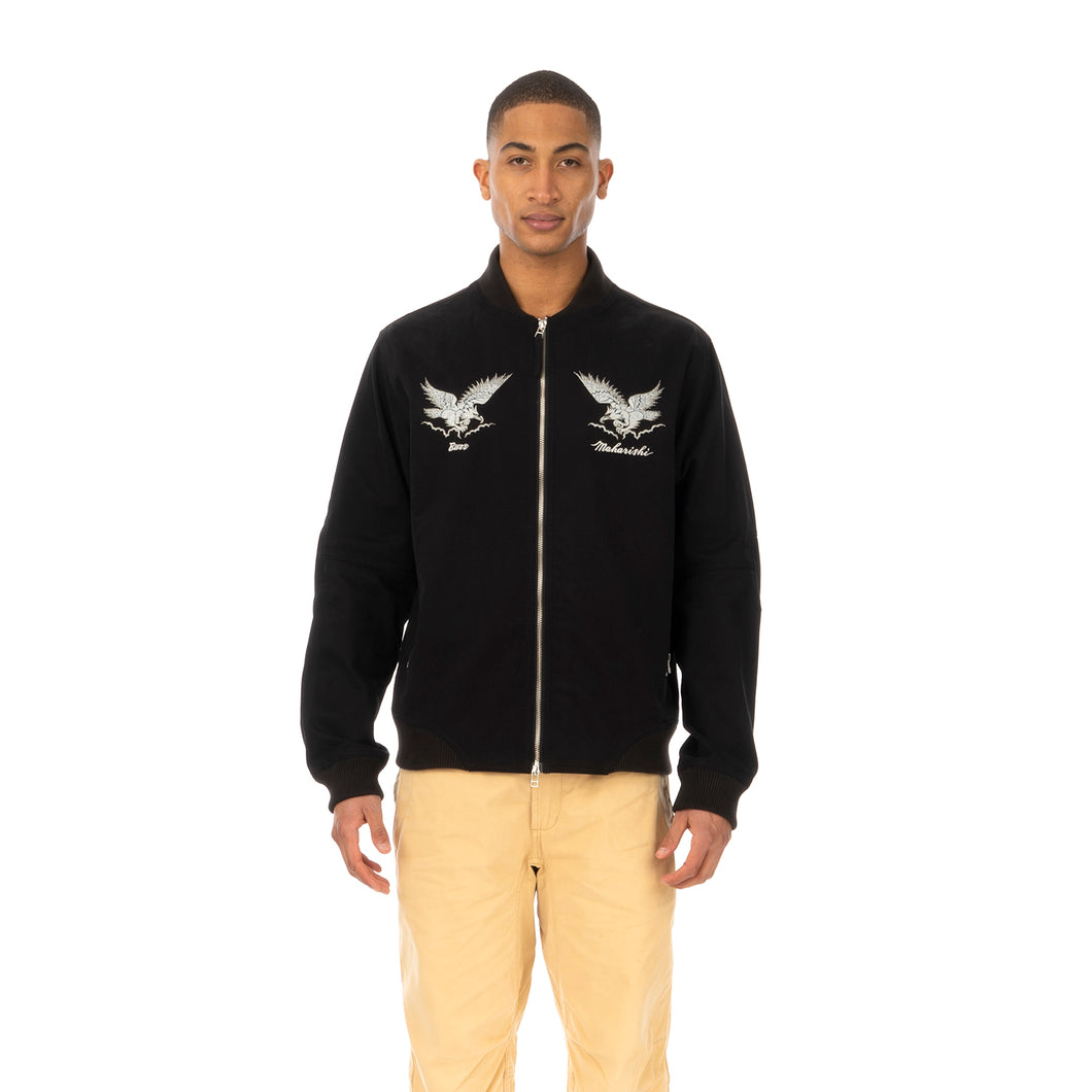 maharishi | Drone Eagle Organic Tour Jacket Black - Concrete