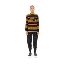 Afbeelding in Gallery-weergave laden, maharishi | Embroidered Striped L/S T-Shirt Flare Red