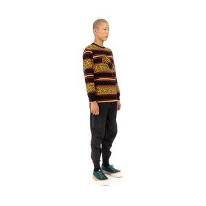 maharishi | Embroidered Striped L/S T-Shirt Flare Red