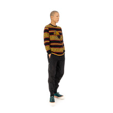 Load image into Gallery viewer, maharishi | Embroidered Striped L/S T-Shirt Flare Red