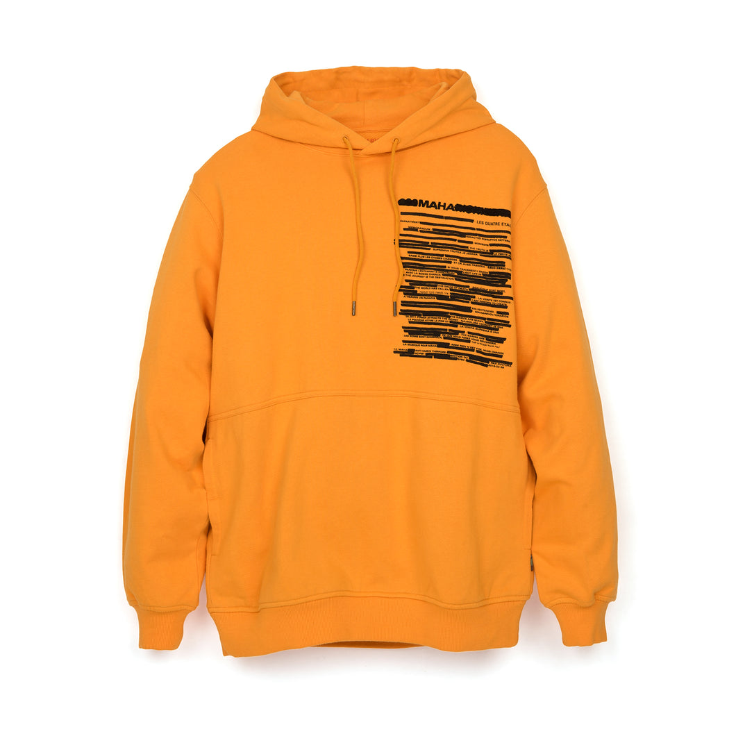 maharishi Militype Hooded Sweat Tron Orange