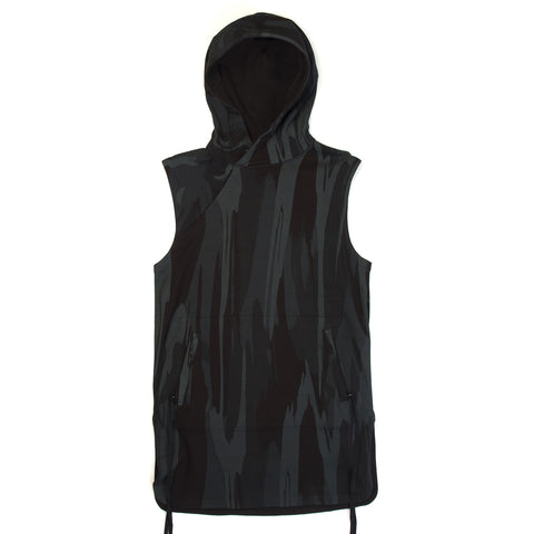 maharishi Reversible Camo Hooded Gilet Night Camouflage