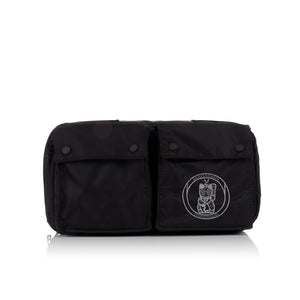 maharishi x Hyperdub Travel Waist Bag Black - Concrete