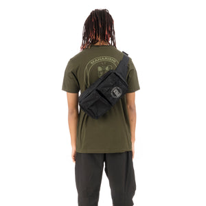 maharishi | x Hyperdub Travel Waist Bag + AiAiAi Headphone Pack Black - Concrete