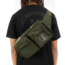 Load image into Gallery viewer, maharishi x Hyperdub Travel Waist Bag + AiAiAi Headphone Pack Olive