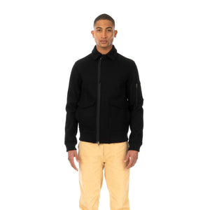 maharishi | Ghillie Flight Jacket Melton Wool Black - Concrete